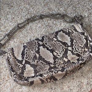sondra roberts snakeskin shoulder bag